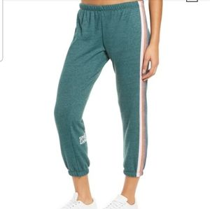 Spiritual Gangster Perfect Stripe Green Sweatpants